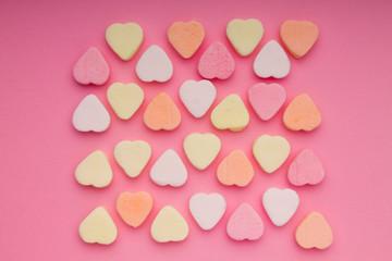 Small colorful hearts