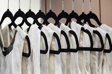 Dresses on hangers