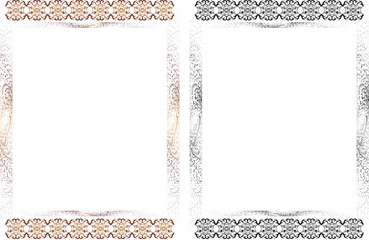 Frame with pattern and halftone elements