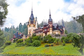 Photo sur Aluminium Chateau Peles palace in Sinaia, Romania