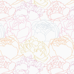 abstract flower seamless pattern vector illustration