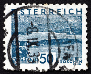 Postage stamp Austria 1930 View of Worthersee