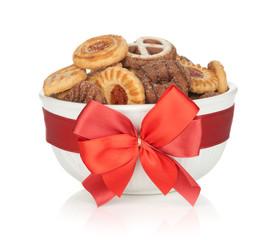 Various cookies in bowl