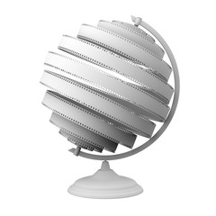 Abstract Globe With White Film (Isolated On White)