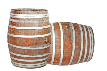 wine barrel isolated on the white background