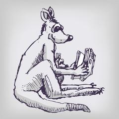 Das Känguru liest vor