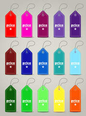 Modern seamless colored price tags