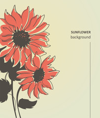 beautiful floral sunflower background vector illustration
