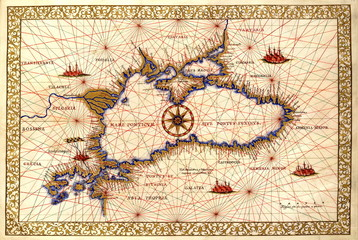 Black Sea old map
