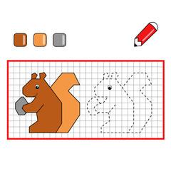 colora lo scoiattolo