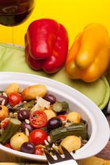 Ceramic Pan With Stewed Vegetables