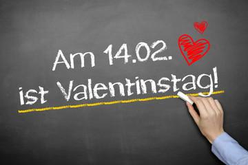 am 14.2. ist Valentinstag