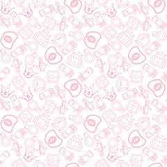 Romantic seamless pattern with princess accessories