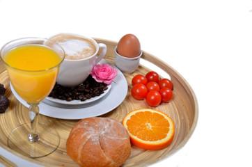Frühstück Kaffee und Saft