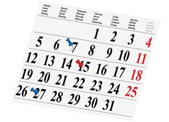 Kalender, Planung