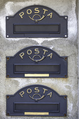 Mail boxes color image
