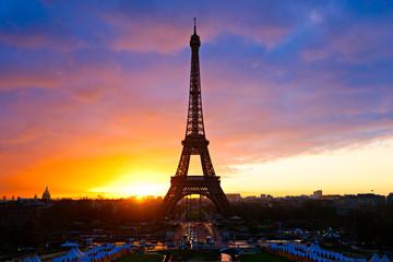 Autocollant pour porte Paris The Eiffel Tower, Paris.