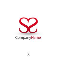 Double S et coeur logotype