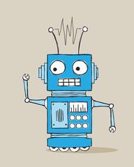 Spoed Foto op Canvas Robots Cartoon robot