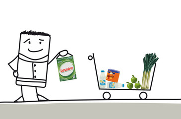 Faire ses courses dans un supermarché