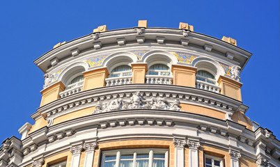 baroque building with bas-relief and murals madrid