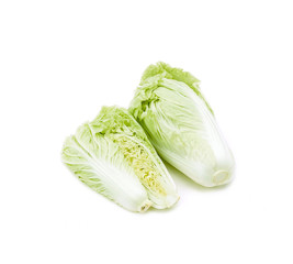 Clean and fresh asian lettuce isolated on white