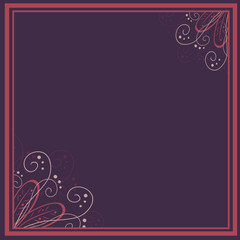 vector vintage floral  background and frame