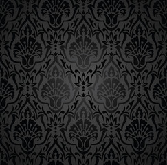 Royal traditional black wallpaper