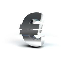 Metal Money Sign Euro