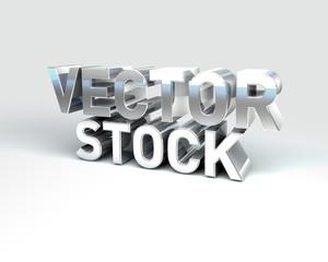 Metal Text VECTOR STOCK