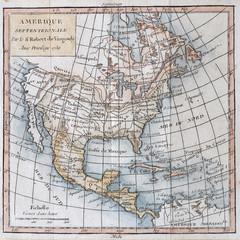 Original antique north America map