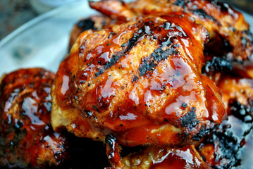 Crispy Barbeque Chicken Thighs