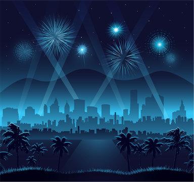 Hollywood movie premiere background celebration eps 10