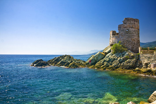 Beautiful village of Erbalunga, Corsica, France