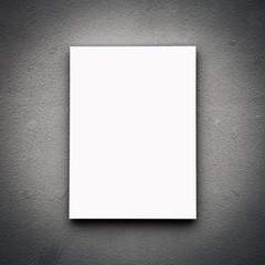 Blank White Board On Wall