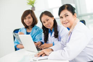 Three asian doctors