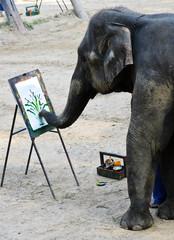 Elephant artist painting