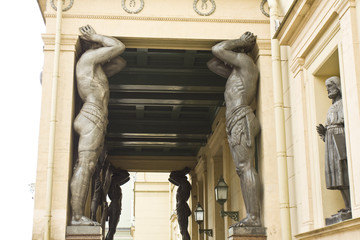 St. Petersburg, sculptures of Atlases