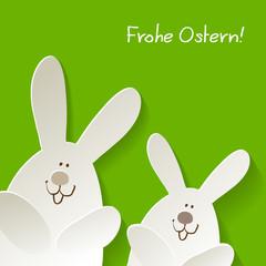 Osterhasen >>> Frohe Ostern Grün