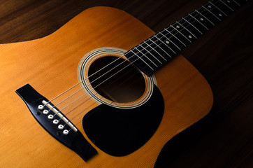 Acoustic guitar - close up