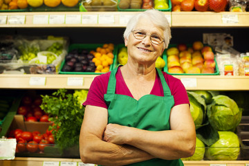 Portrait of mature store worker