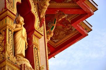 The Buddha status of temple at Phuket ,Thailand