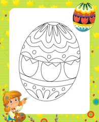 The page with exercises for kids - easter