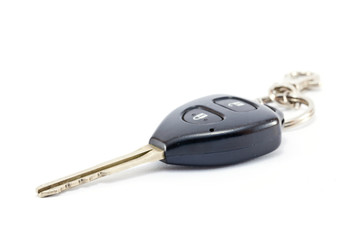 modern car key  on white background