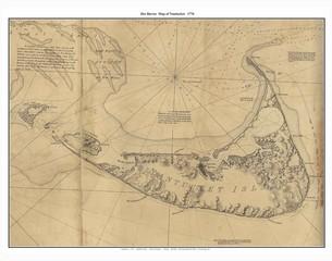Wall Mural - Nantucket old map