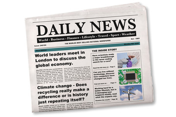 Daily Newspaper Mock up with fake articles