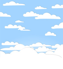 Canvas Prints Heaven Good weather background. Blue sky with clouds