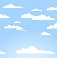 Papiers peints Ciel Good weather background. Blue sky with clouds