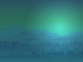 Mountain View At Night