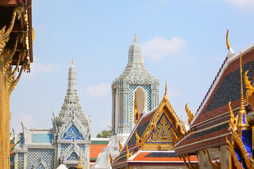 Upper Terrace. View of King Palace in Bangkok